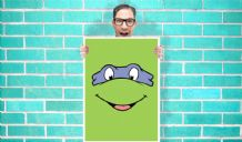 Teenage Mutant Ninja Turtles Leonardo (Leo) - Wall Art Print Poster   - Art Geekery